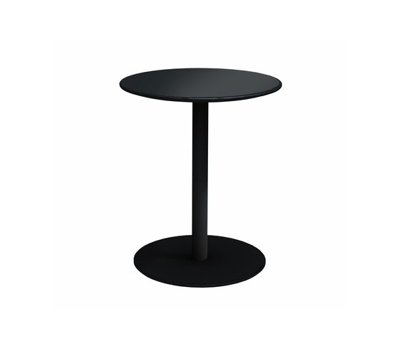 Odette Table 0:50 H:60 cm Black - Laminate