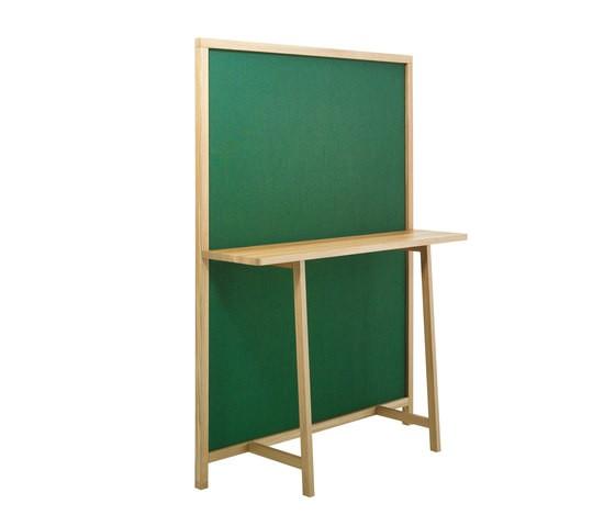 Shoji 715 Green Fabric, Oak Frame