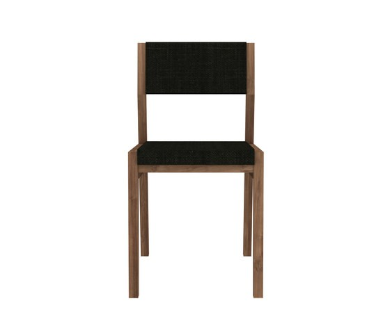 Teak Ex 1 chair - without armrest - Turkish Coffee