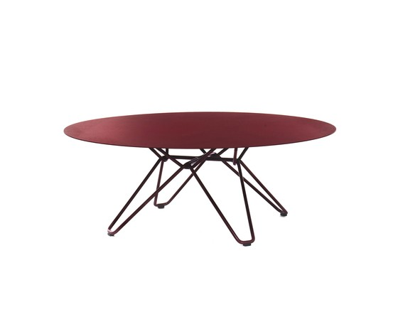 Tio Circular Coffee Table Metal 0:100 H:38 cm Wine Red - Metal