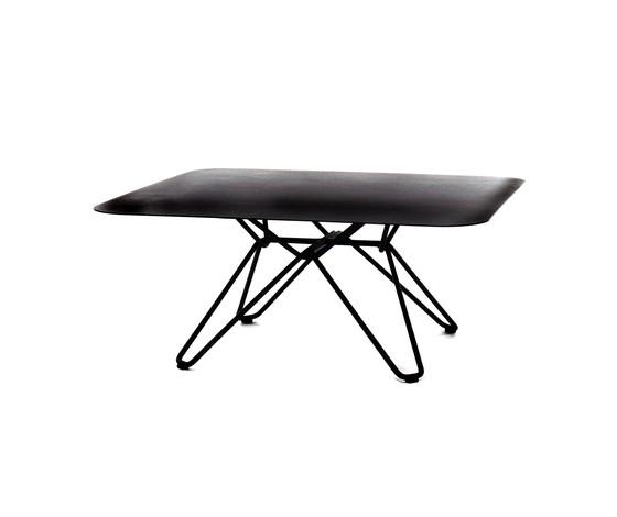 Tio Square Coffee Table Metal 85 x 85 x 38 cm Black Metal