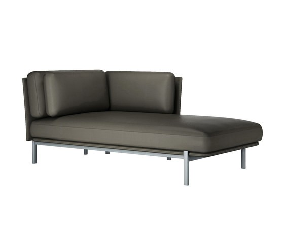 twelve chaise longue right 884 ice,28 Seppia leather
