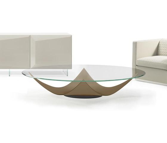 Vela 40 Round Coffee Table by Reflex Bronze Base, Diameter 120 cm