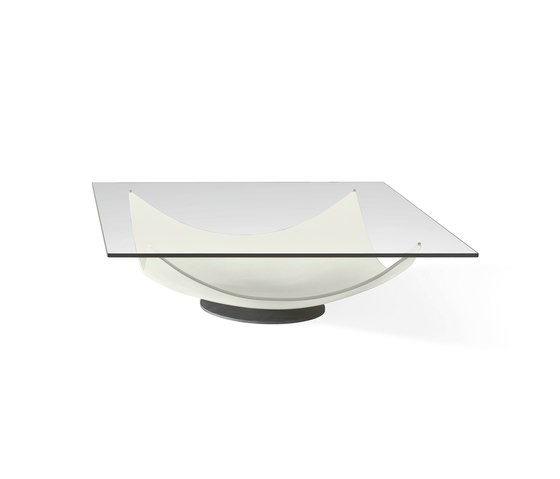 Vela 40 Rectangular Coffee Table by Reflex White Lacquered Base, 120x120x31 cm