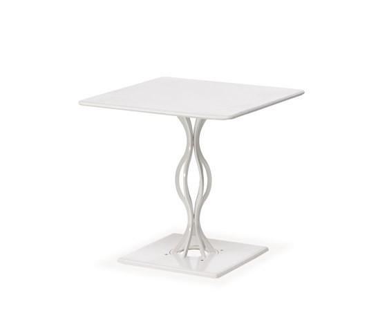 Vera square table Glossy White