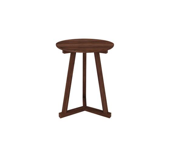 Walnut Tripod side table 46 x 46 x 56 cm