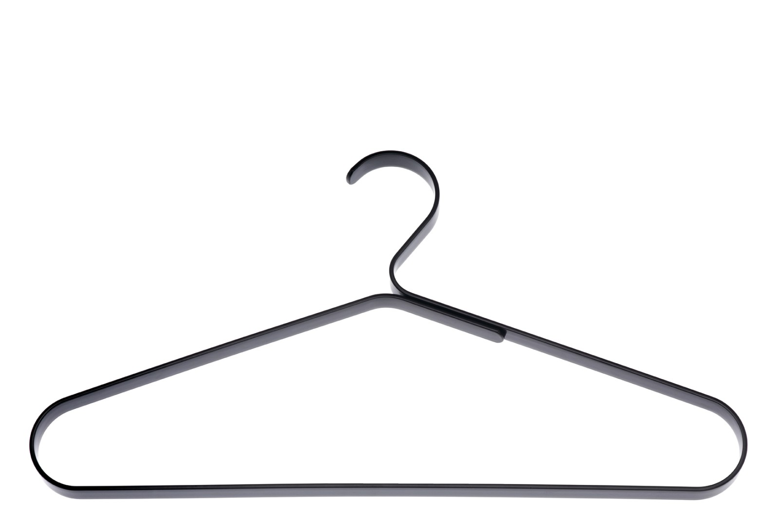 0118 Coat Hanger - Set of 4 198 Powder Coated Black Fine Structure