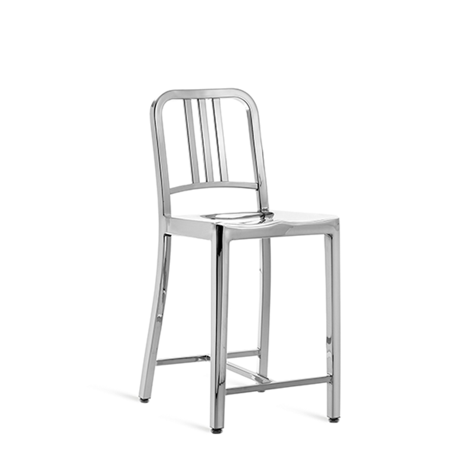 1006 Navy Counter Stool Hand Polished