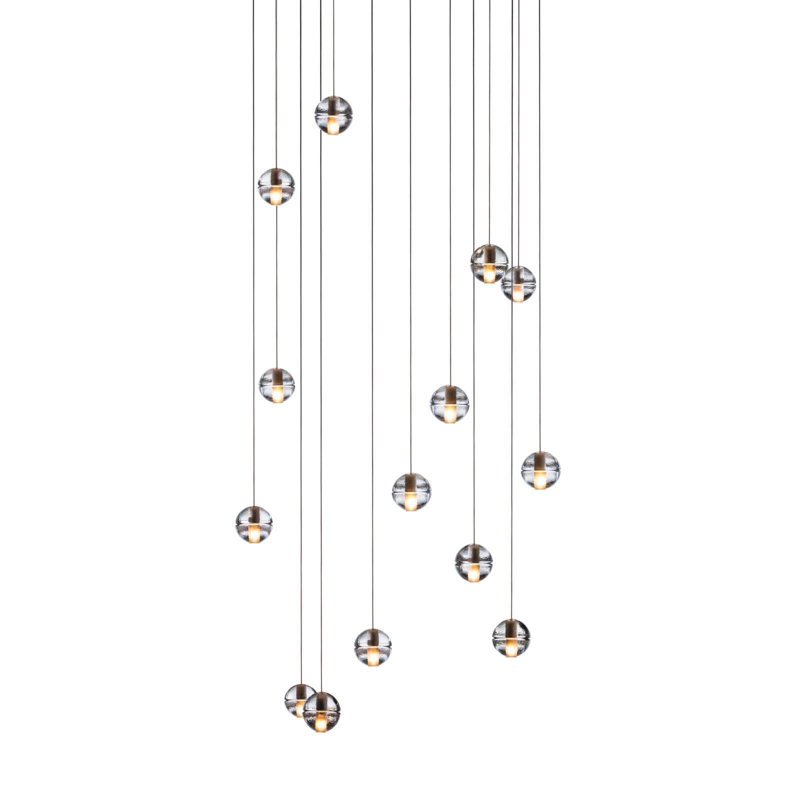 14.14 Rectangular Pendant Chandelier Clear, Xenon