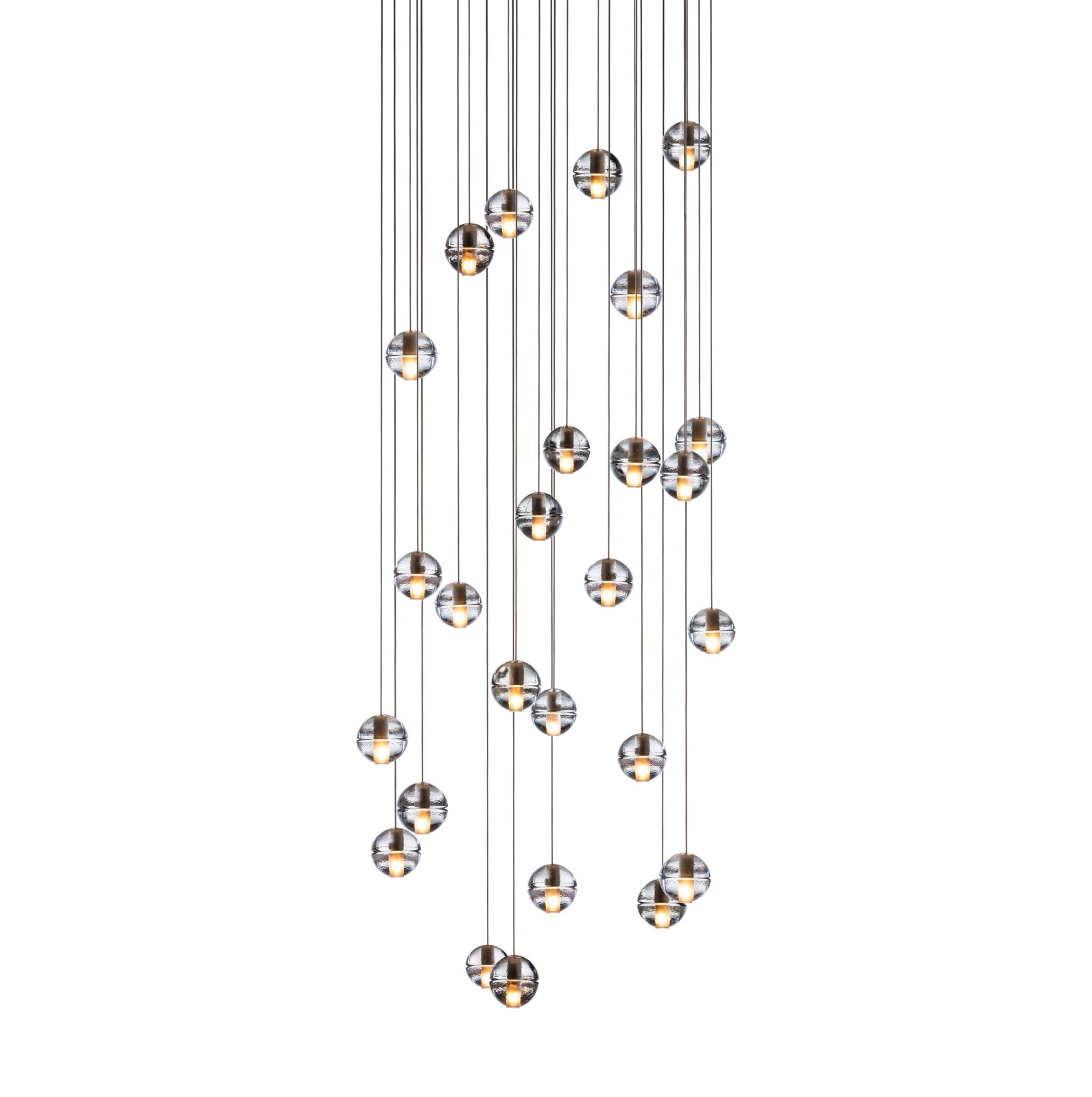 14.26 Rectangular Pendant Chandelier Clear, Xenon
