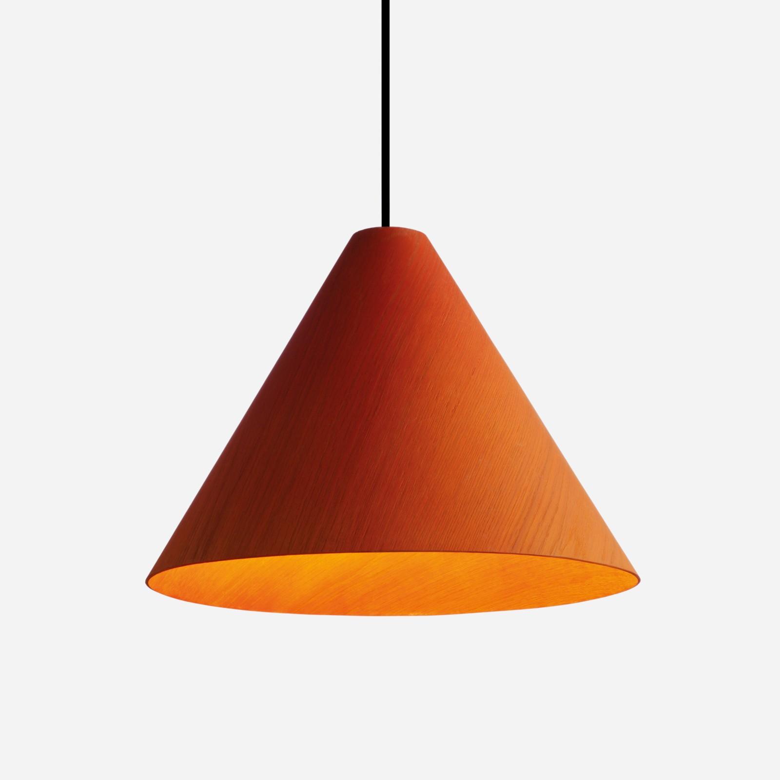 30degree Lamp Shade Orange Shade, Black Cordset, Small