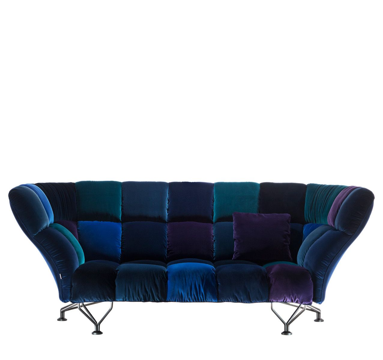 33 CUSCINI Velvet Sofa Blue Velvet