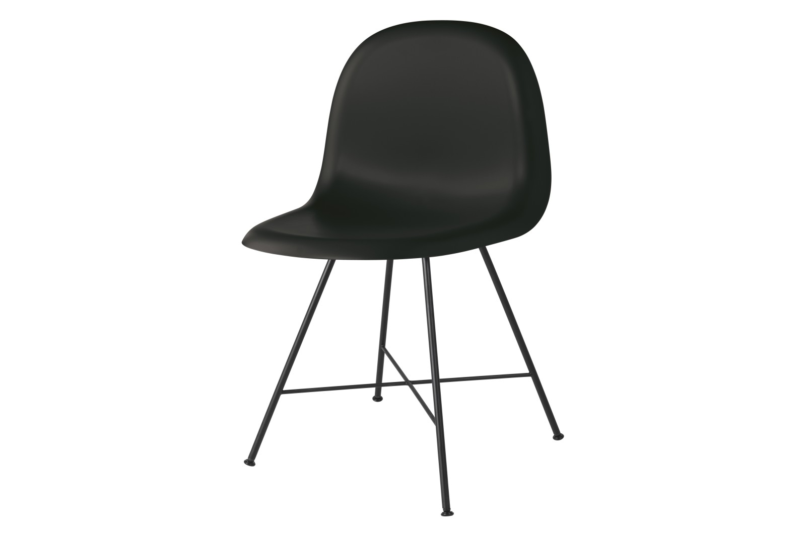 Gubi 3D Dining Chair Center Base - Unupholstered Gubi HiRek Black