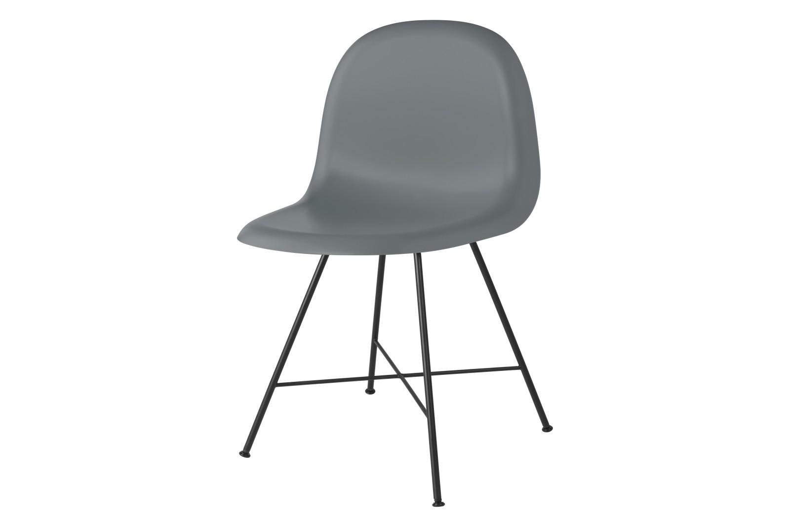 Gubi 3D Dining Chair Center Base - Unupholstered Gubi HiRek Rainy Grey