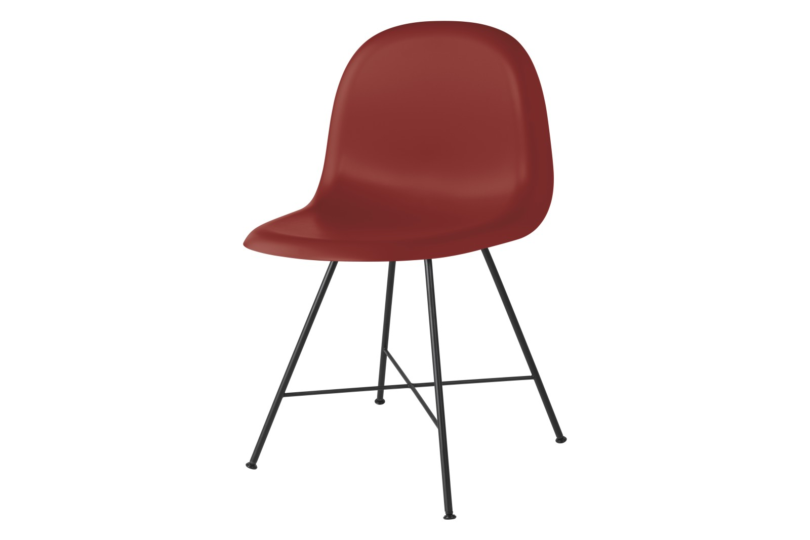Gubi 3D Dining Chair Center Base - Unupholstered Gubi HiRek Shy Cherry