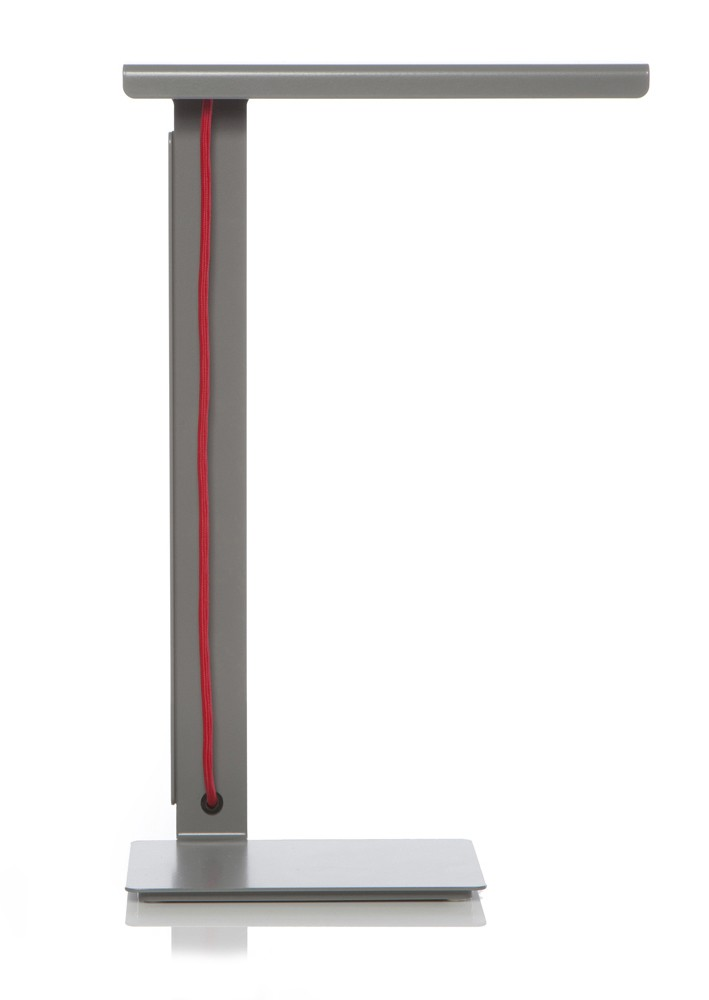 490 LED Desk Lamp Grey with Red Cable