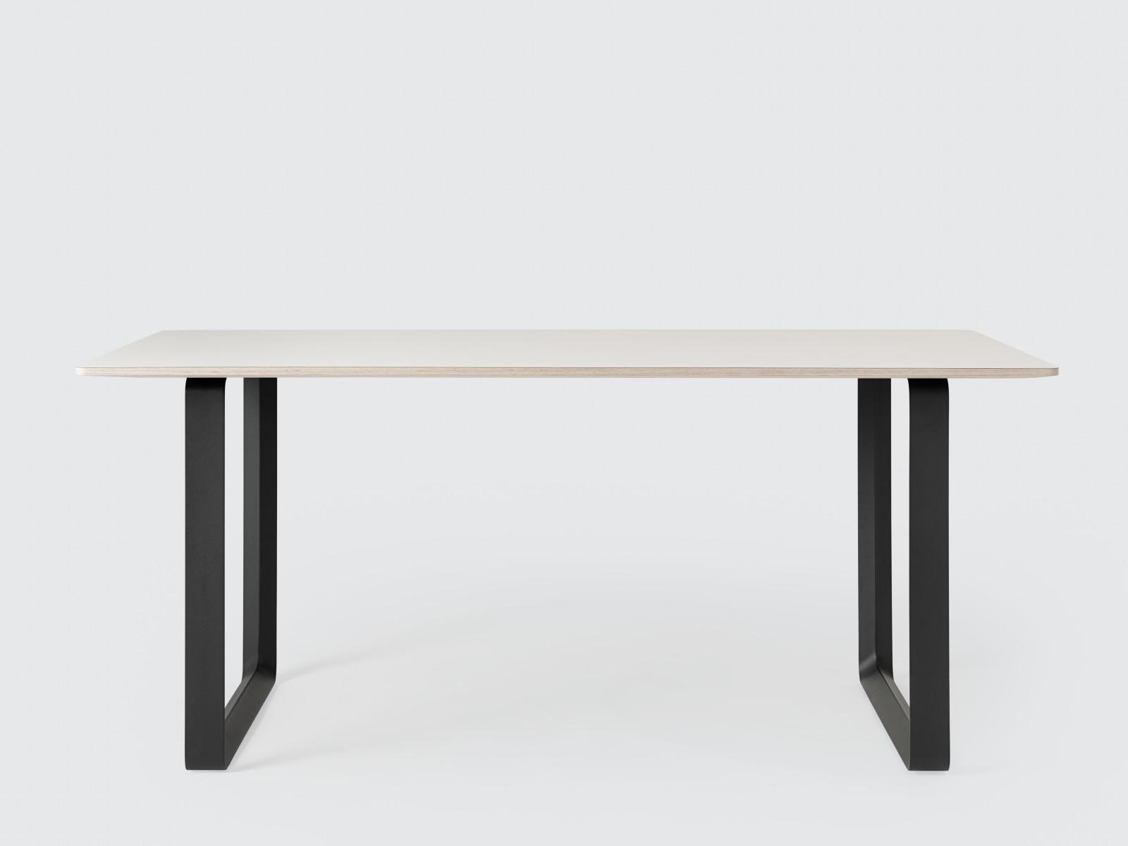 70/70 Table Large, White, Black