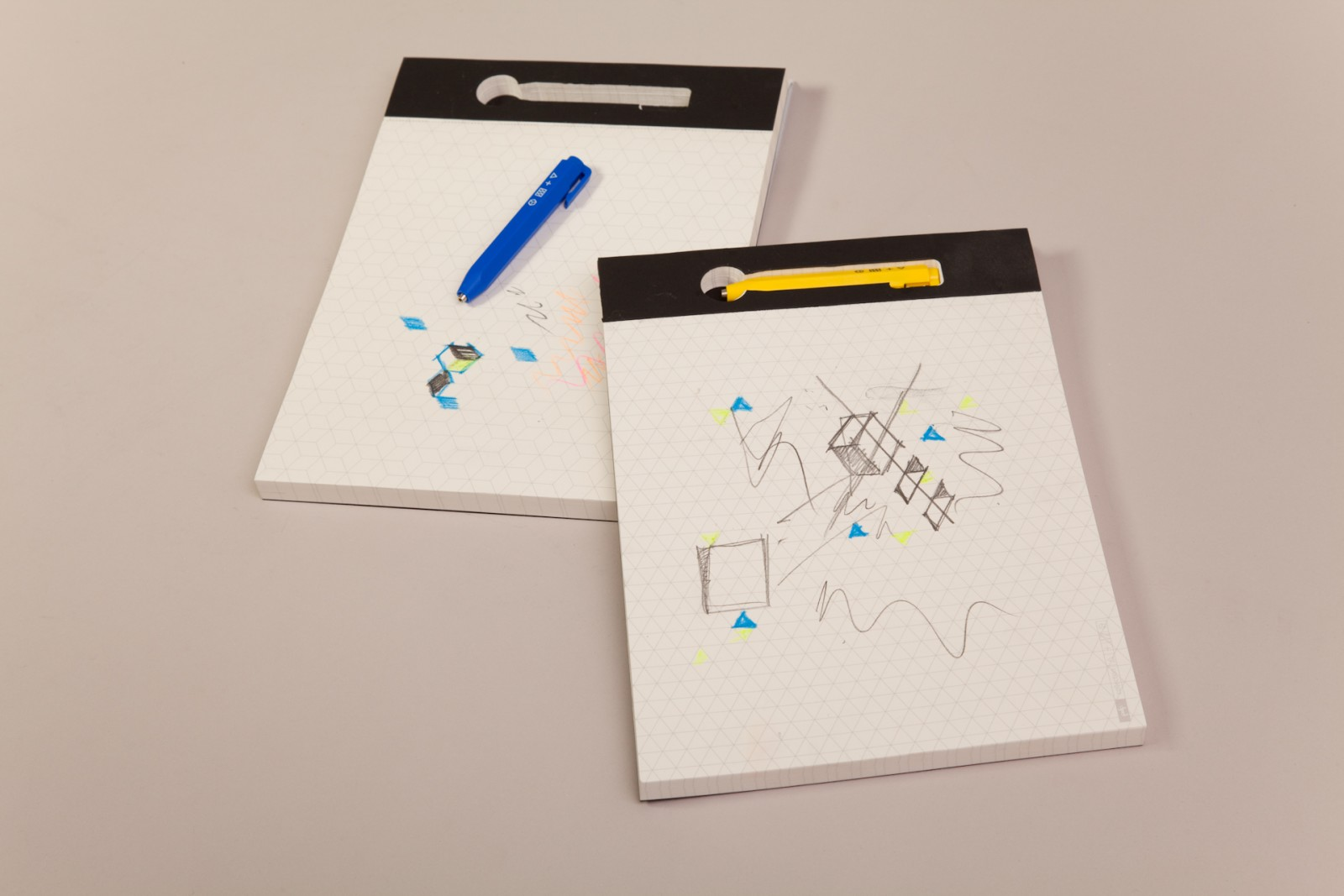 A4 Notepad + Shorty Mechanical Pencil Yellow Pencil