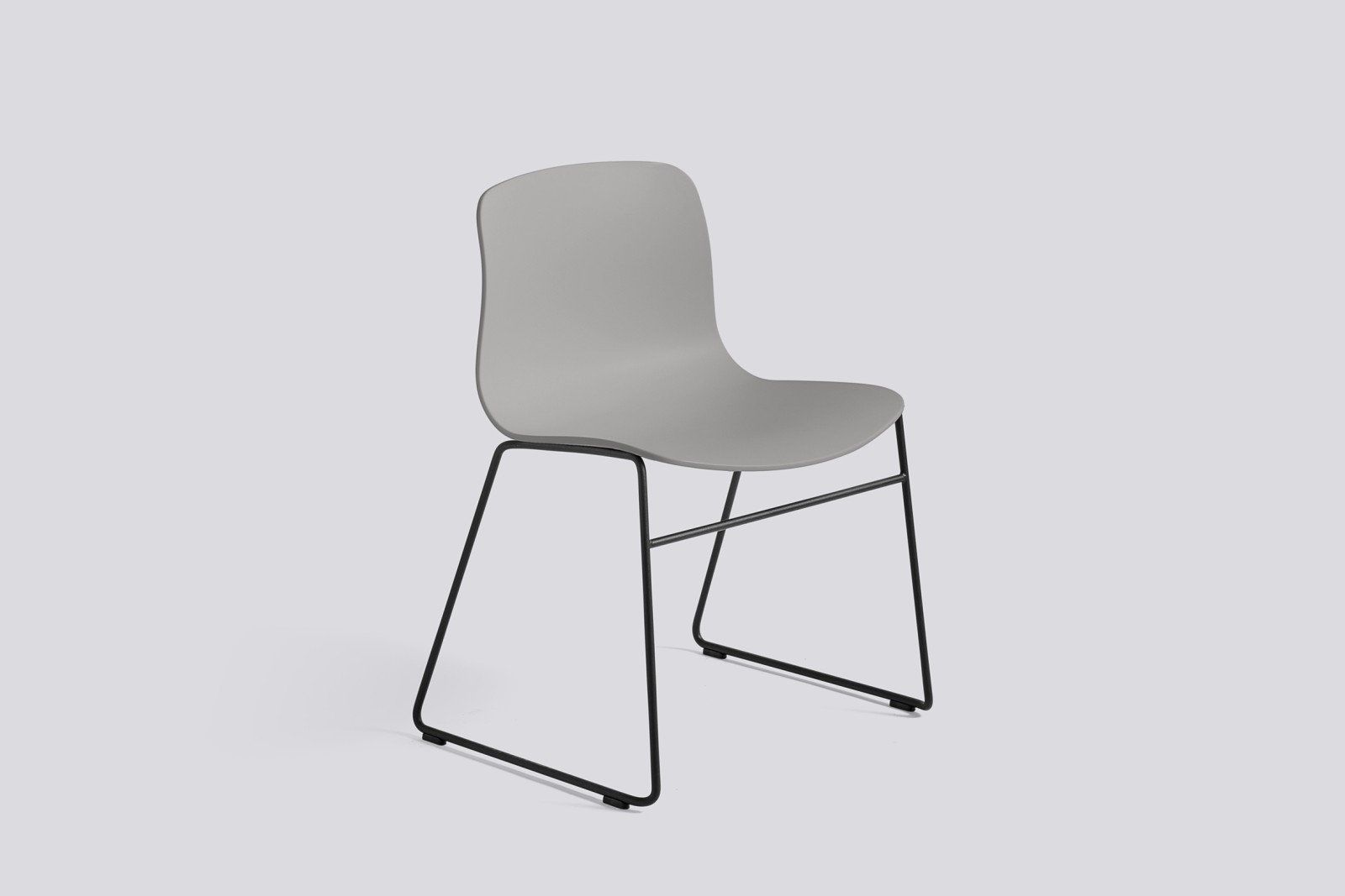 About A Chair AAC08 Concrete Grey Seat and Black Base