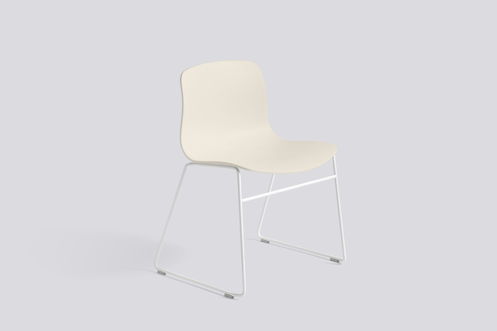 About A Chair AAC08 Cream White Seat and White Base