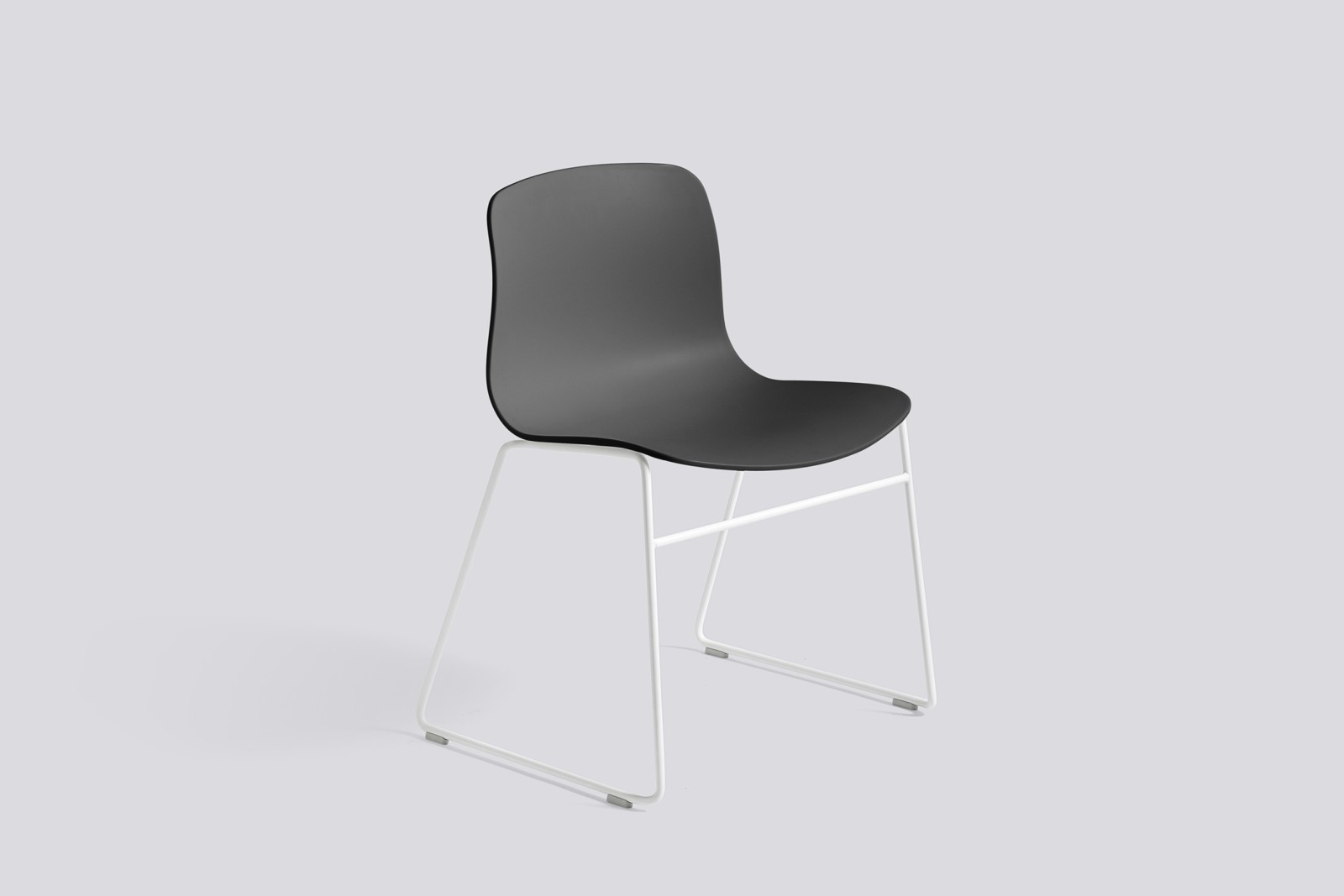 About A Chair AAC08 Soft Black Seat and White Base