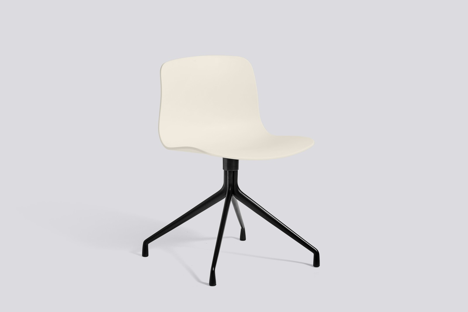 About A Chair AAC10 Cream white, Black Powder Coated Aluminium