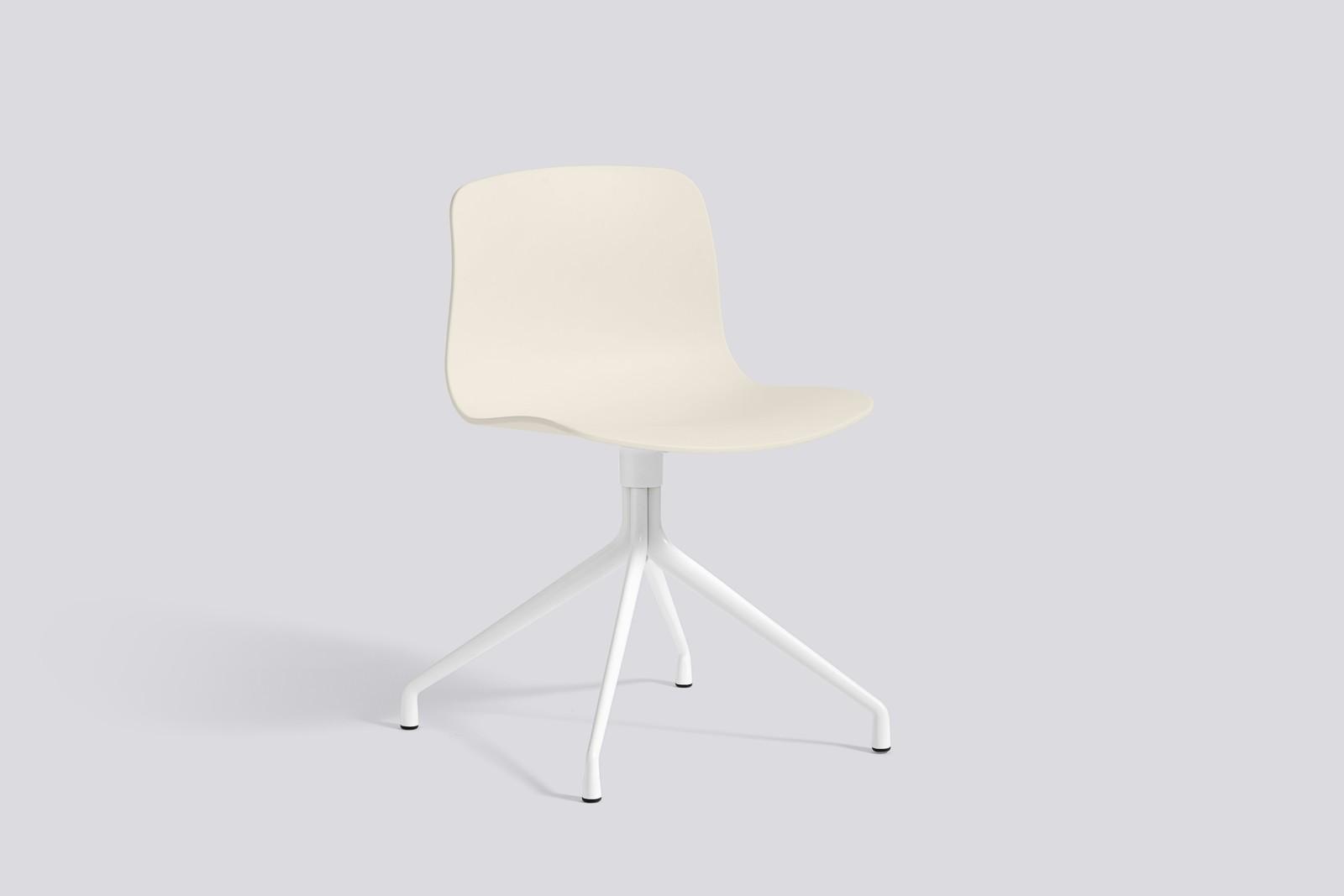 About A Chair AAC10 Cream white, White Powder Coated Aluminium