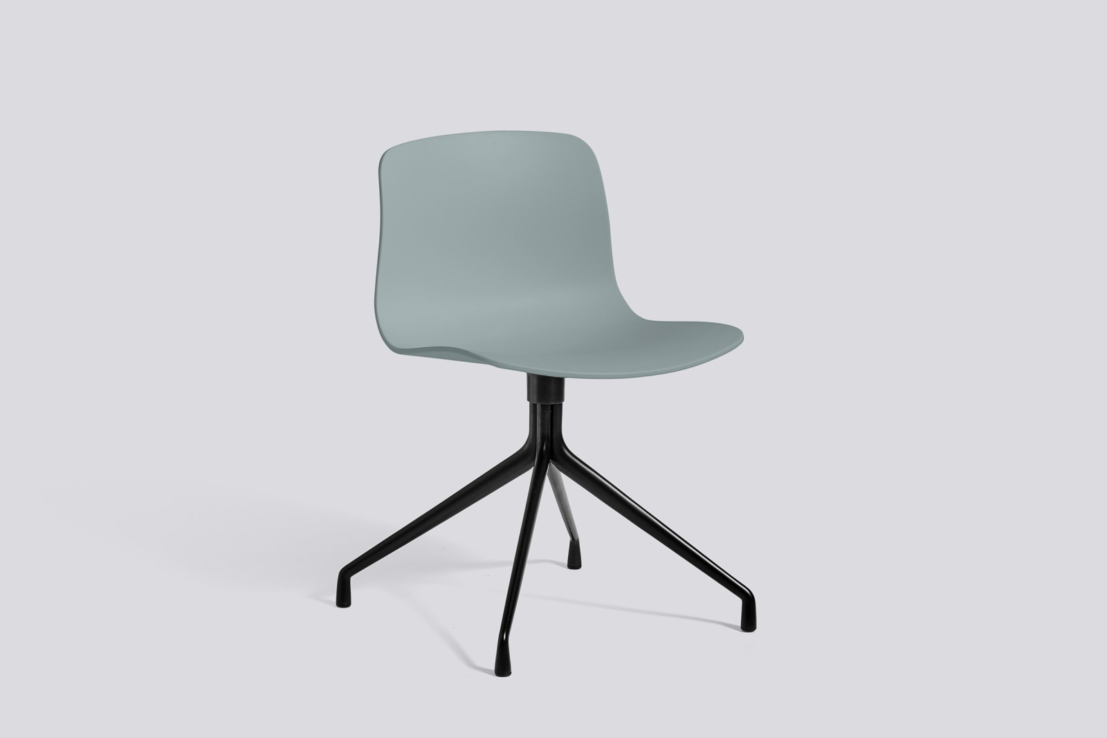 About A Chair AAC10 Dusty blue, Black Powder Coated Aluminium