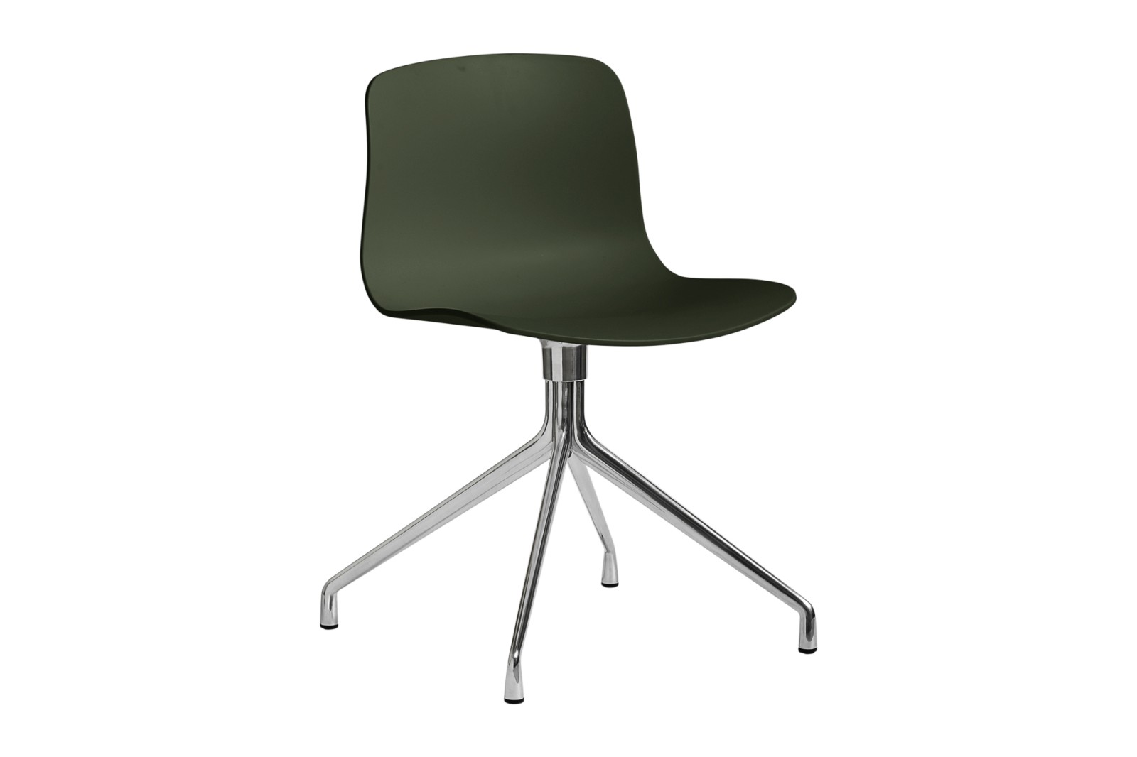 About A Chair AAC10 Green, Polished Aluminium