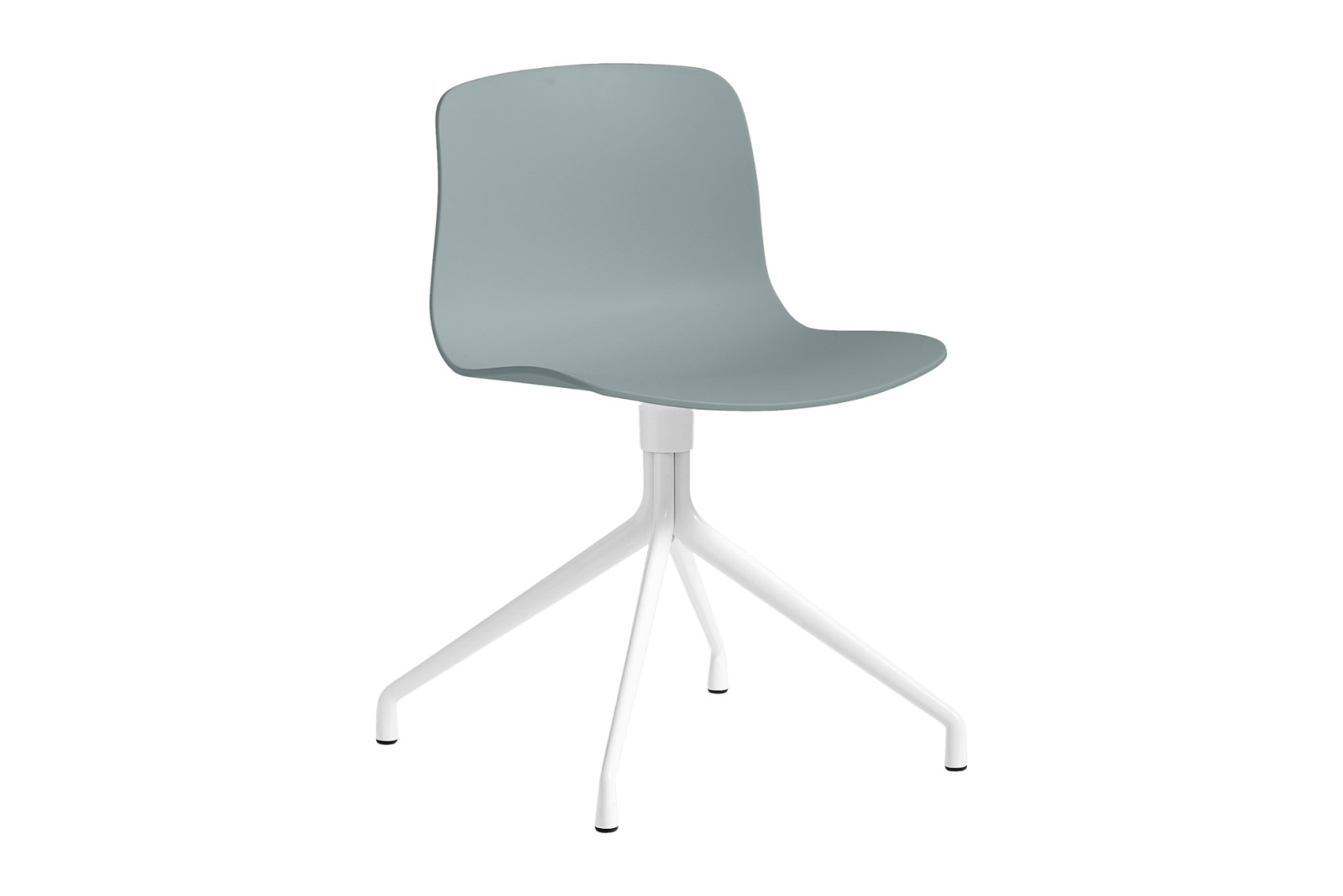 About A Chair AAC10 Dusty blue, White Powder Coated Aluminium