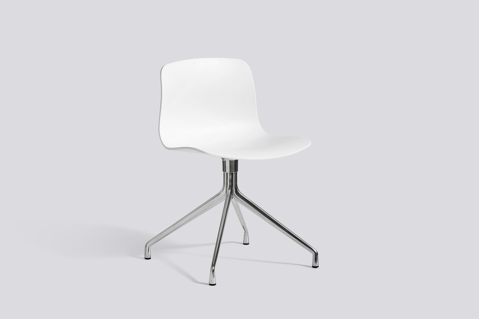 About A Chair AAC10 White, Polished Aluminium