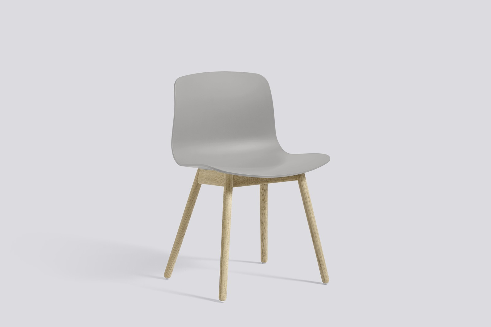 About A Chair AAC12 Concrete Grey Seat and Soap Treated Oak Base
