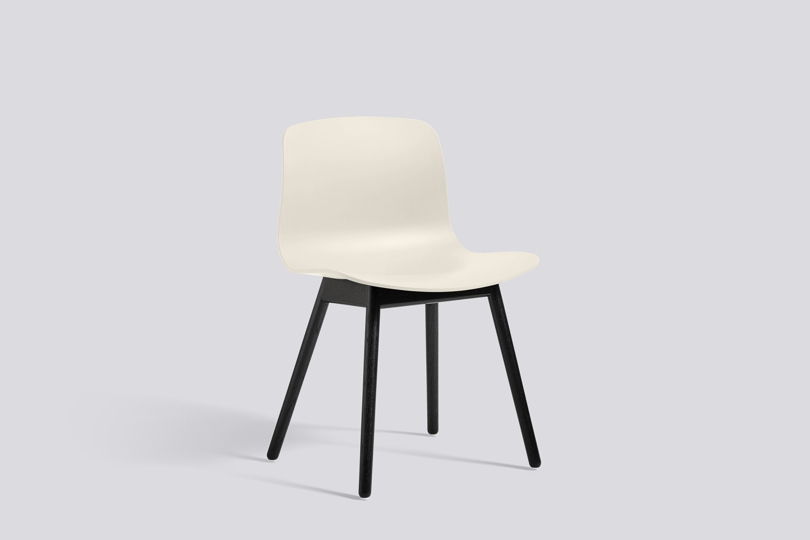 About A Chair AAC12 Cream White Seat and Black Stained Base