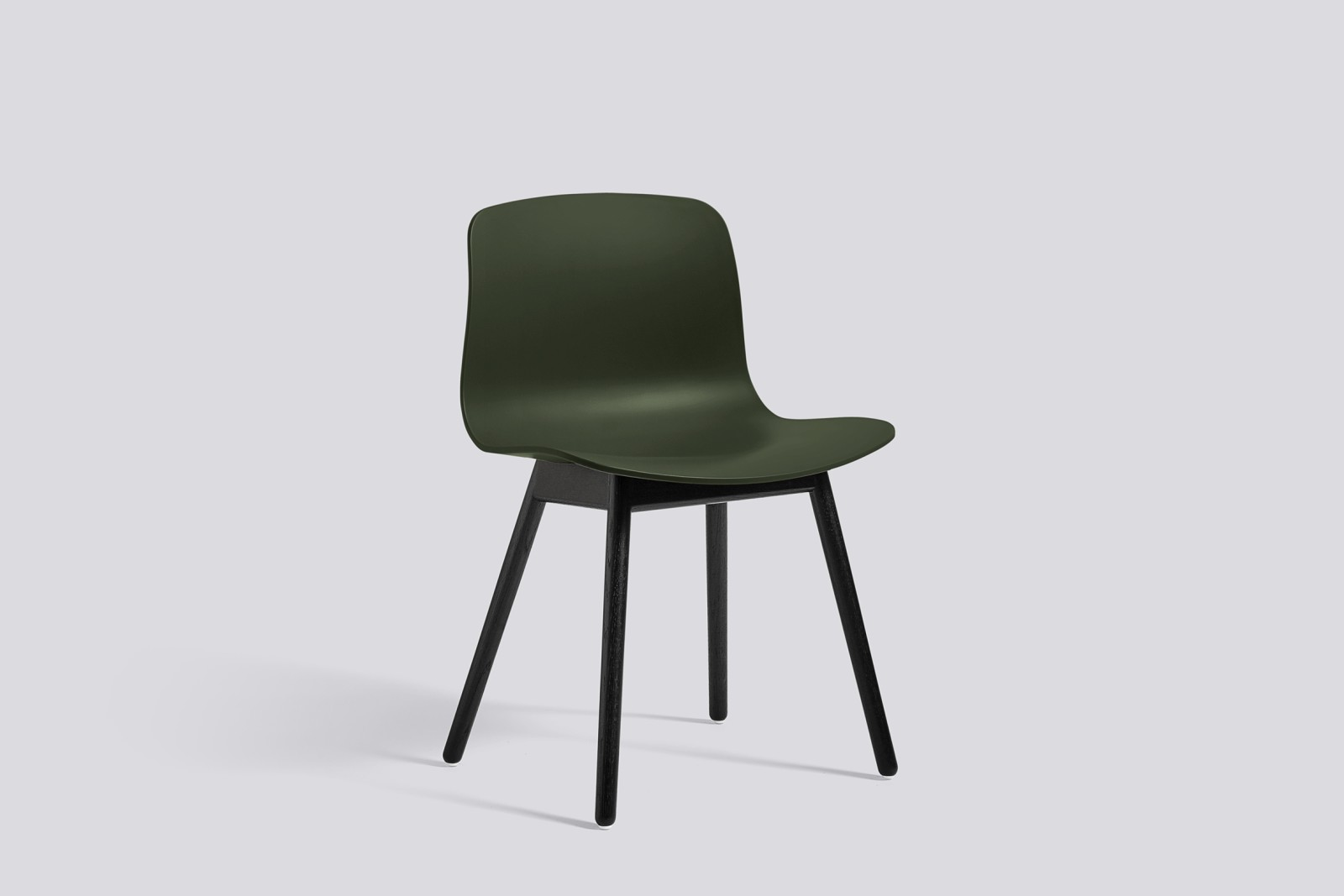 About A Chair AAC12 Green Seat and Black Stained Base