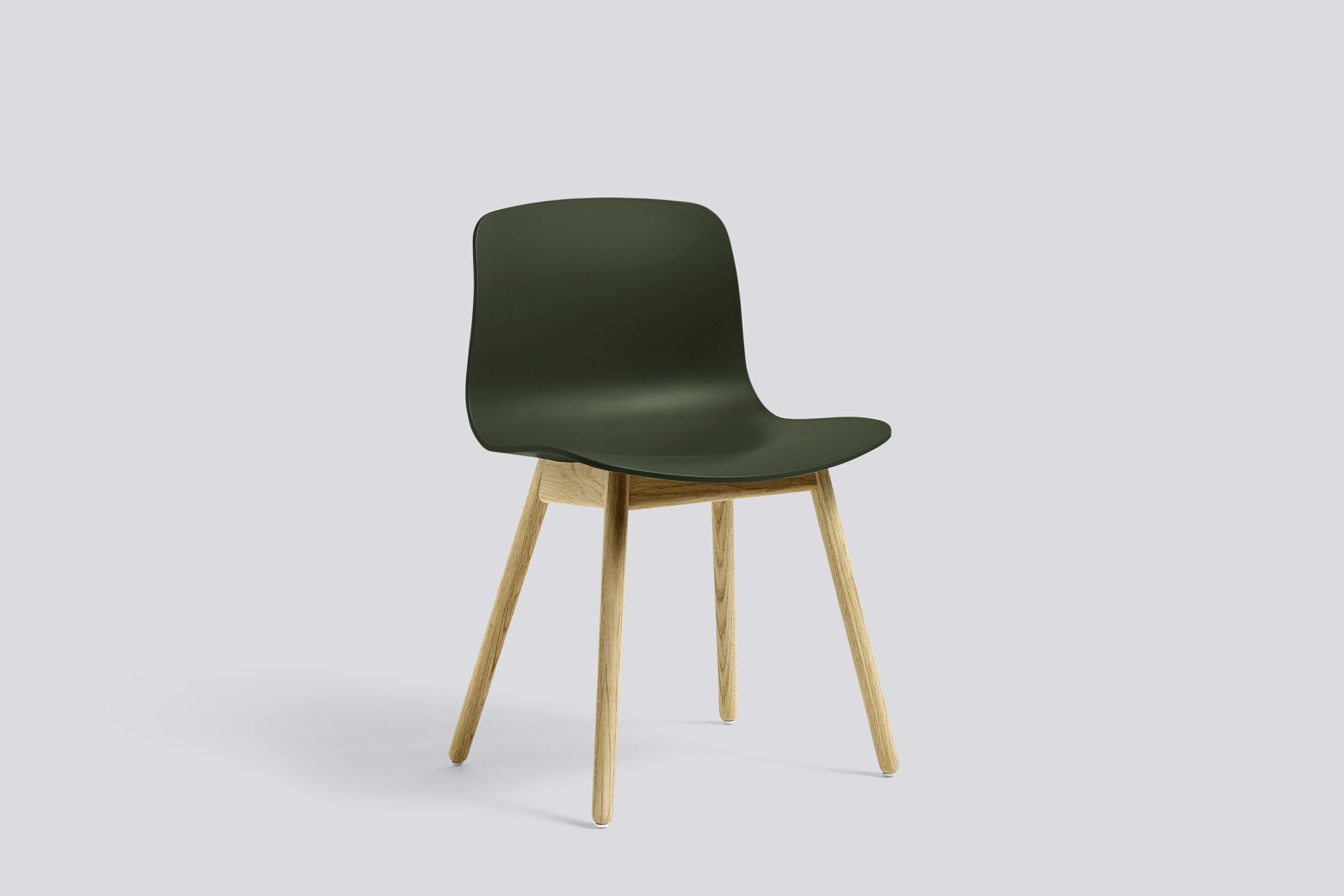 About A Chair AAC12 Green Seat and Matt Lacquered Solid Oak