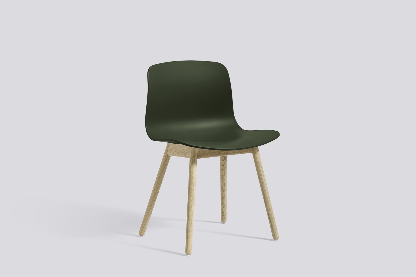 About A Chair AAC12 Green Seat and Soap Treated Oak Base