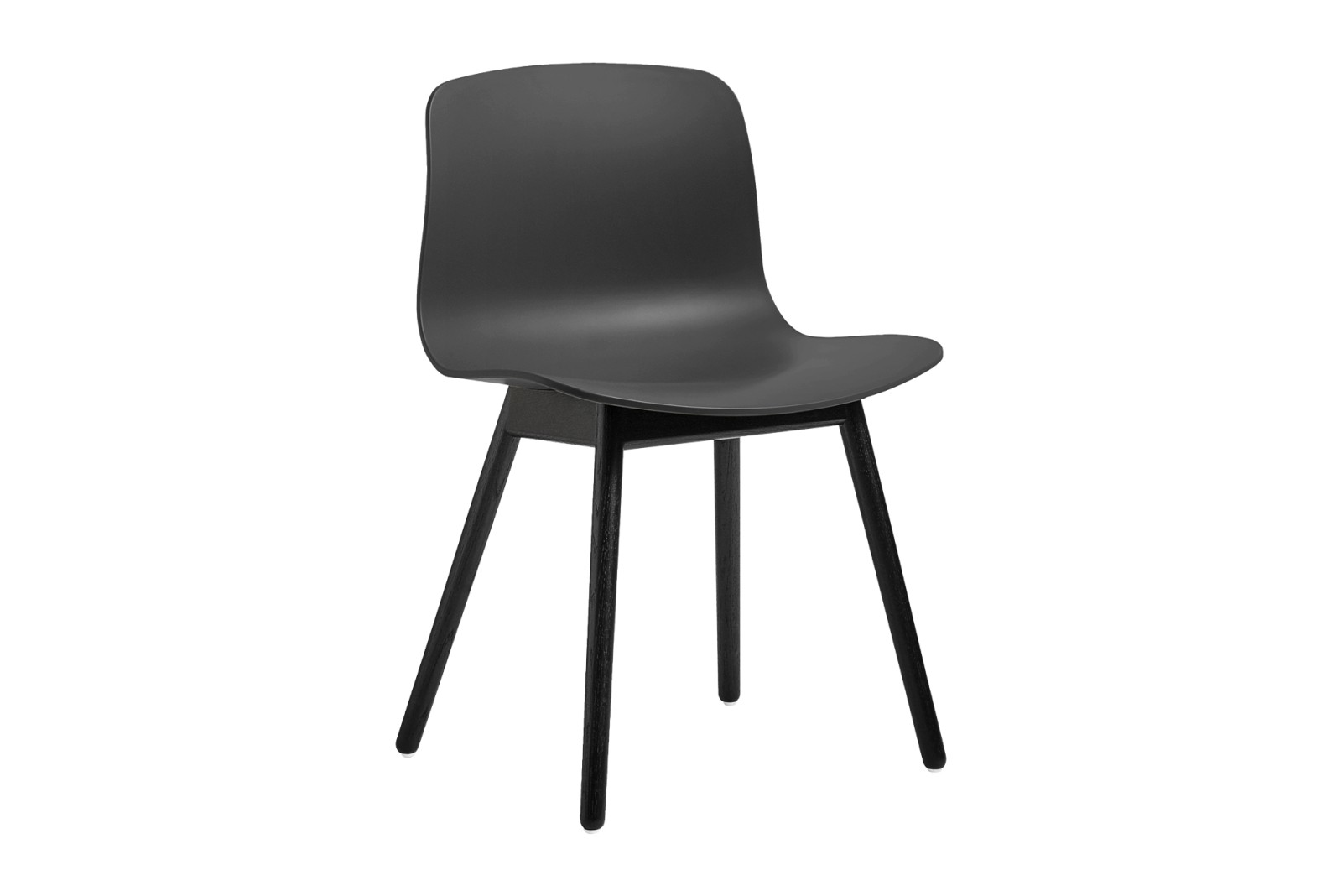 About A Chair AAC12 Soft Black Seat and Black Stained Base