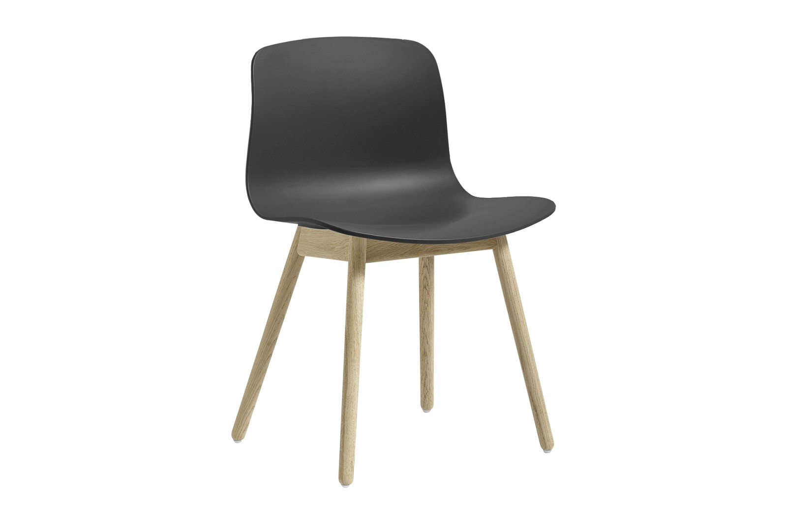 About A Chair AAC12 Soft Black Seat and Soap Treated Oak Base