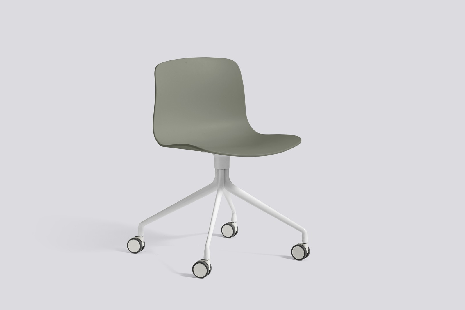About A Chair AAC14 Dusty green, White Powder Coated Aluminium