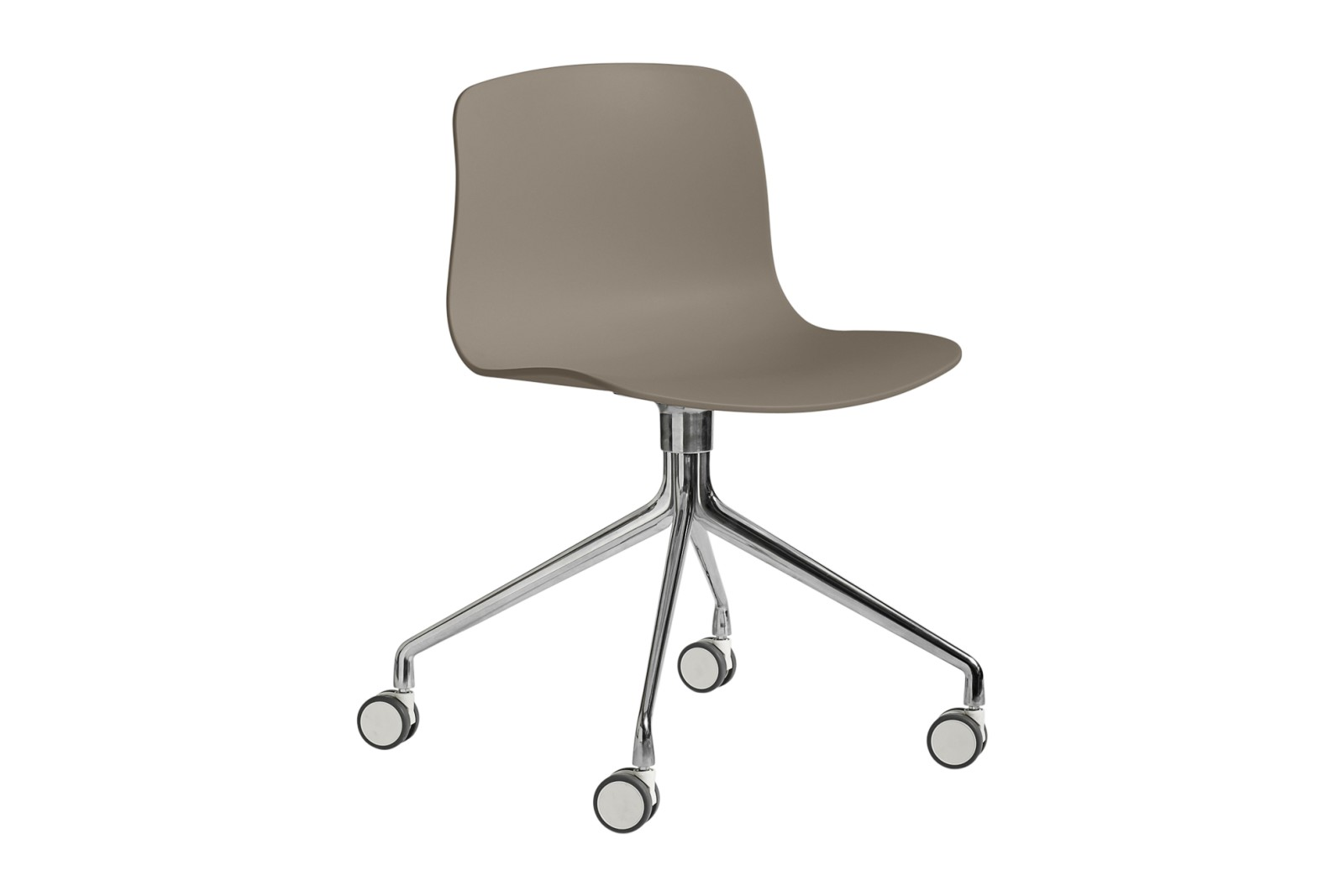 About A Chair AAC14 Khaki, Polished Aluminium