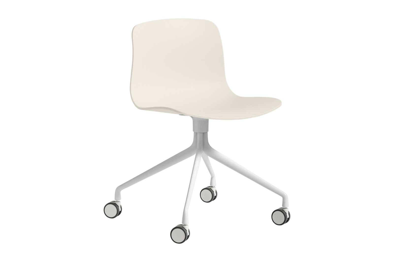 About A Chair AAC14 Cream white, White Powder Coated Aluminium