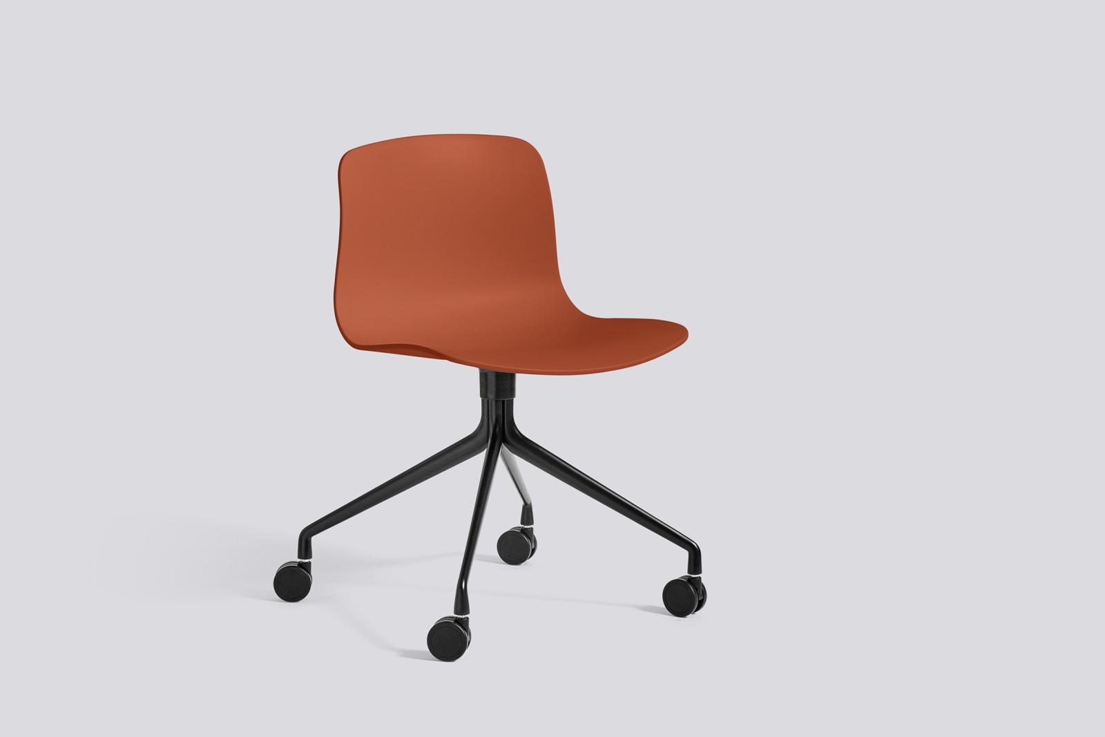 About A Chair AAC14 Orange, Black Powder Coated Aluminium