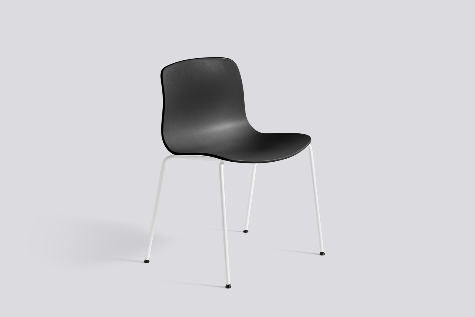 About A Chair AAC16 Black, White Powder Coated Steel