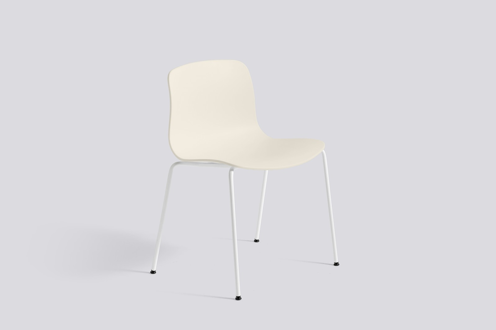 About A Chair AAC16 Cream white, White Powder Coated Steel
