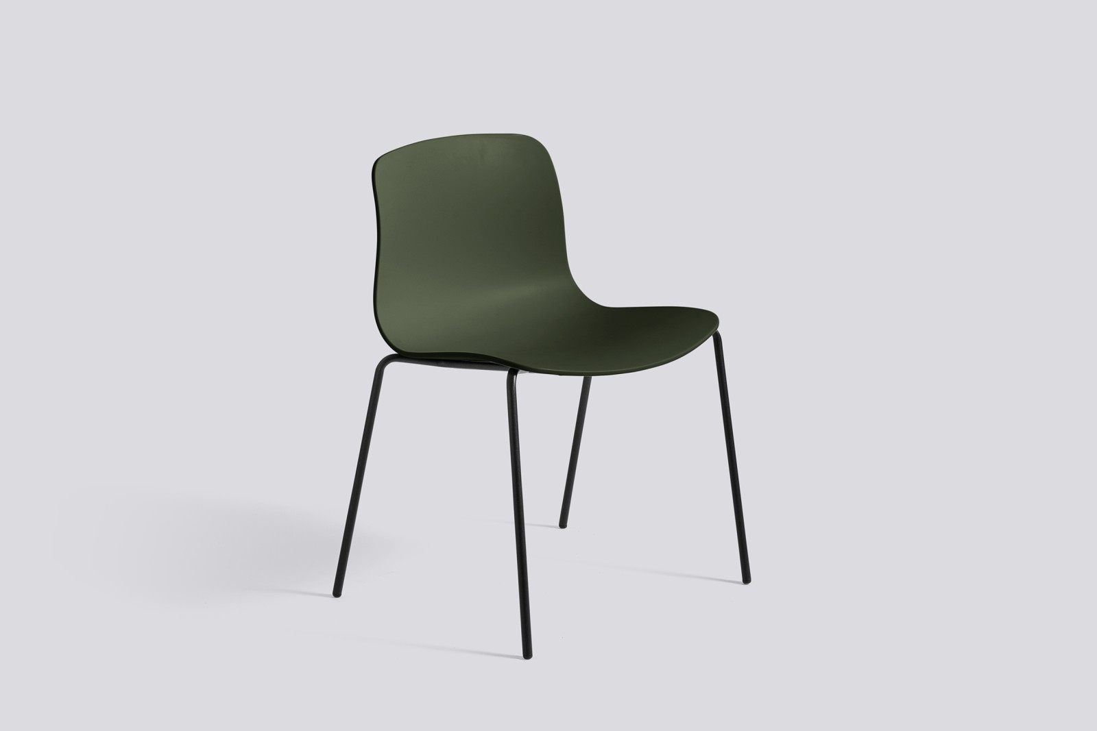 About A Chair AAC16 Green, Black Powder Coated Steel