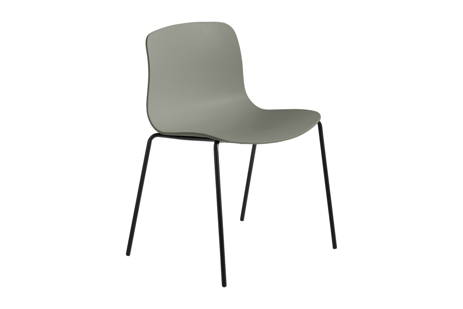 About A Chair AAC16 Dusty green, Black Powder Coated Steel