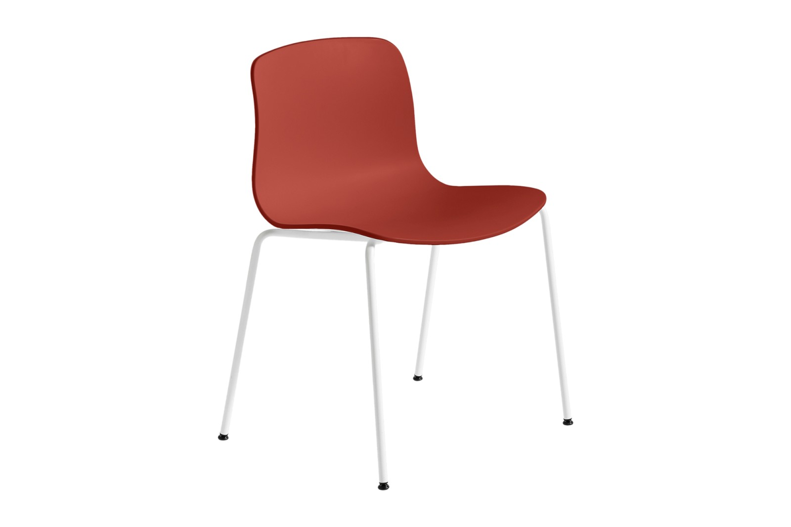 About A Chair AAC16 Warm red, White Powder Coated Steel