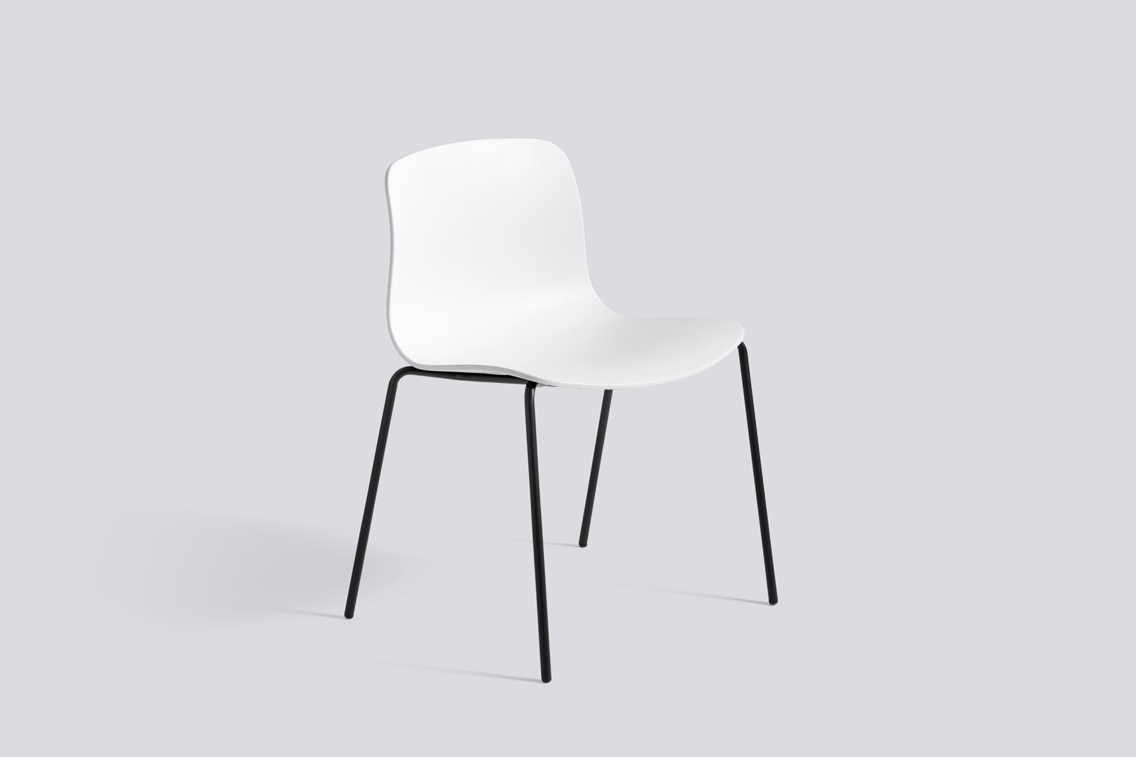 About A Chair AAC16 White, Black Powder Coated Steel