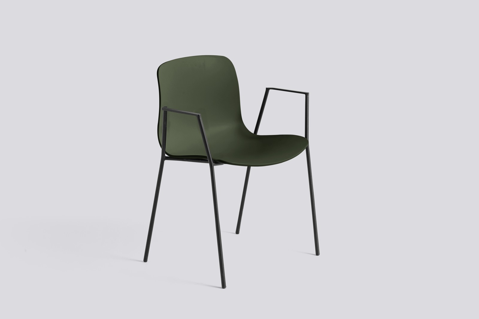 About A Chair AAC18 Green, Black Powder Coated Steel