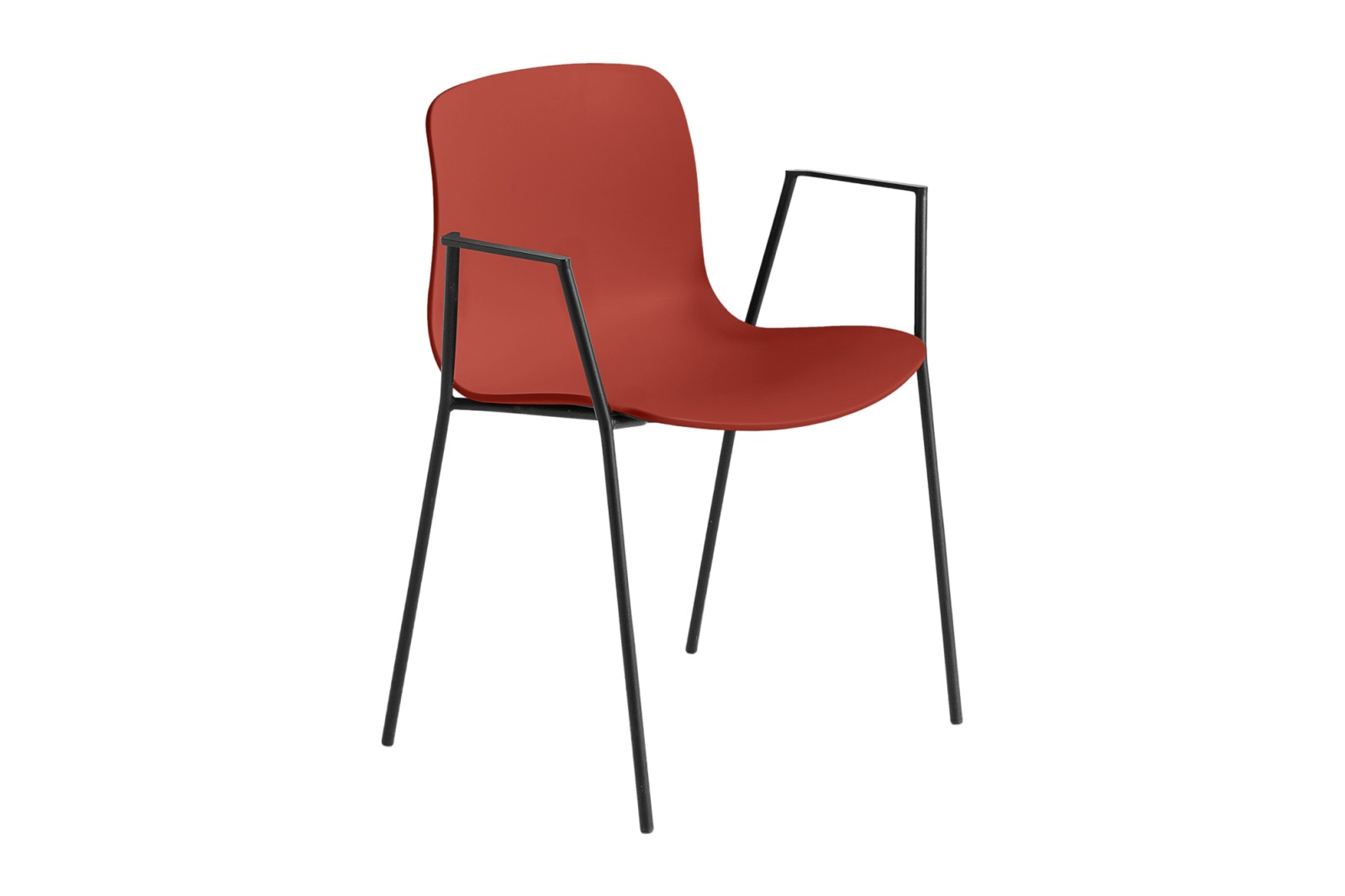 About A Chair AAC18 Warm red, Black Powder Coated Steel